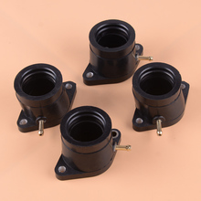 DWCX 4pcs Motorcycle Carburetor Intake Manifold Boot Joint Carb Holder Fit For Yamaha XJ650 XJ750 5G2-13586-02-00