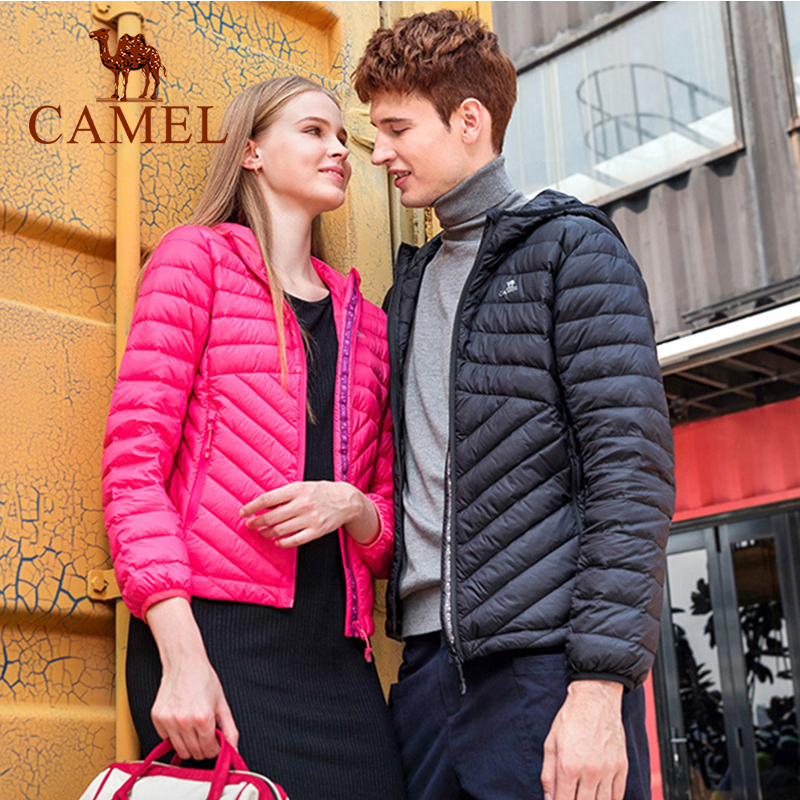 CAMEL New Arrivals Couple Winter Outdoor Jacket Ultra Light 90% White Duck Down Jackets Casual Portable Men Women Coat Down