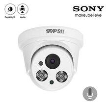 4 Uds una bolsa blanca dos ledes de matriz 4K 8MP,5MP,4MP,2MP interior Audio salida cúpula de Hemisferio Sony Sensor AHD vigilancia CCTV Cámara