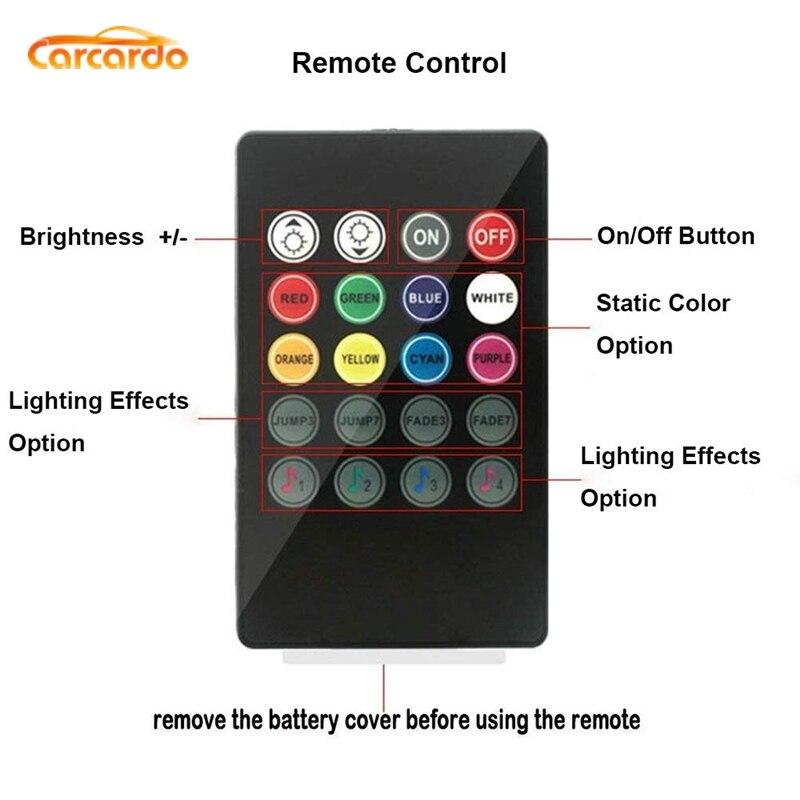 Carcardo 1 Set Voice Music Control LED Atmosfer Neon İşıq lampası - Avtomobil işıqları - Fotoqrafiya 6