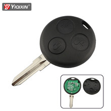 Yiqixin 433mhz remoto carro chave keyless entrada para mercedes benz smart fortwo 450 forfour 451 roadster cidade coupe cabrio 1998-2006