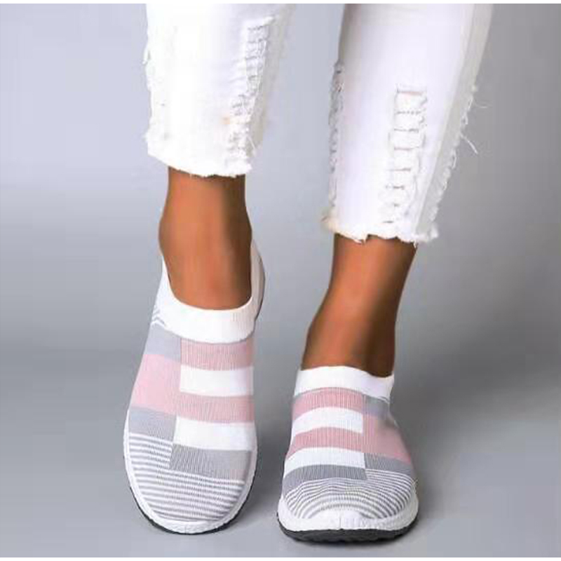 Women's Sneakers Women Vulcanized Shoes Woman Causal Fashion Knitted Sock Shoes Ladies Slip On Comfort Female Plus Size Loafers