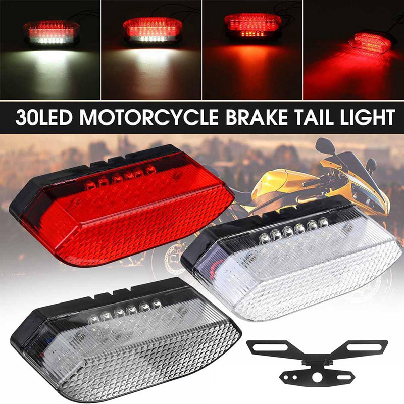 30LED Motorcycle Bike Rear Tail Stop Red Light Lamp  Braking Light For Dirt Bike Taillight Rear Lamp