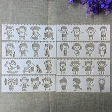 8 sztuk nowy 18 5*5 5cm małe dzieci dzieci DIY Layering szablony malowanie kolorowanka szablony do albumu szablon do dekoracji tanie tanio TIAMECH F5815-6