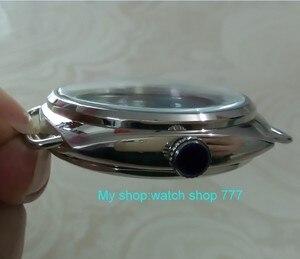 Image 5 - Cajas de reloj de acero inoxidable 316L, de alta calidad, de 47mm, aptas para cuerda a mano mecánica 6497/6498, movimiento 013A