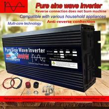 Inversor de energia solar do transformador de tensão dc12v para ac 220v conversor conduzido inversor de onda de seno puro 12v 24v 48v 60v 3000 v 4000w 220 w
