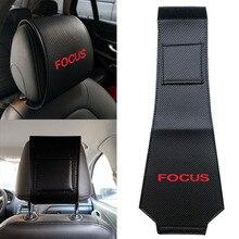 Car-Headrest-Cover Focus Ford Hot Carbon-Fiber Interior-Accessories Car-Styling 1PCS