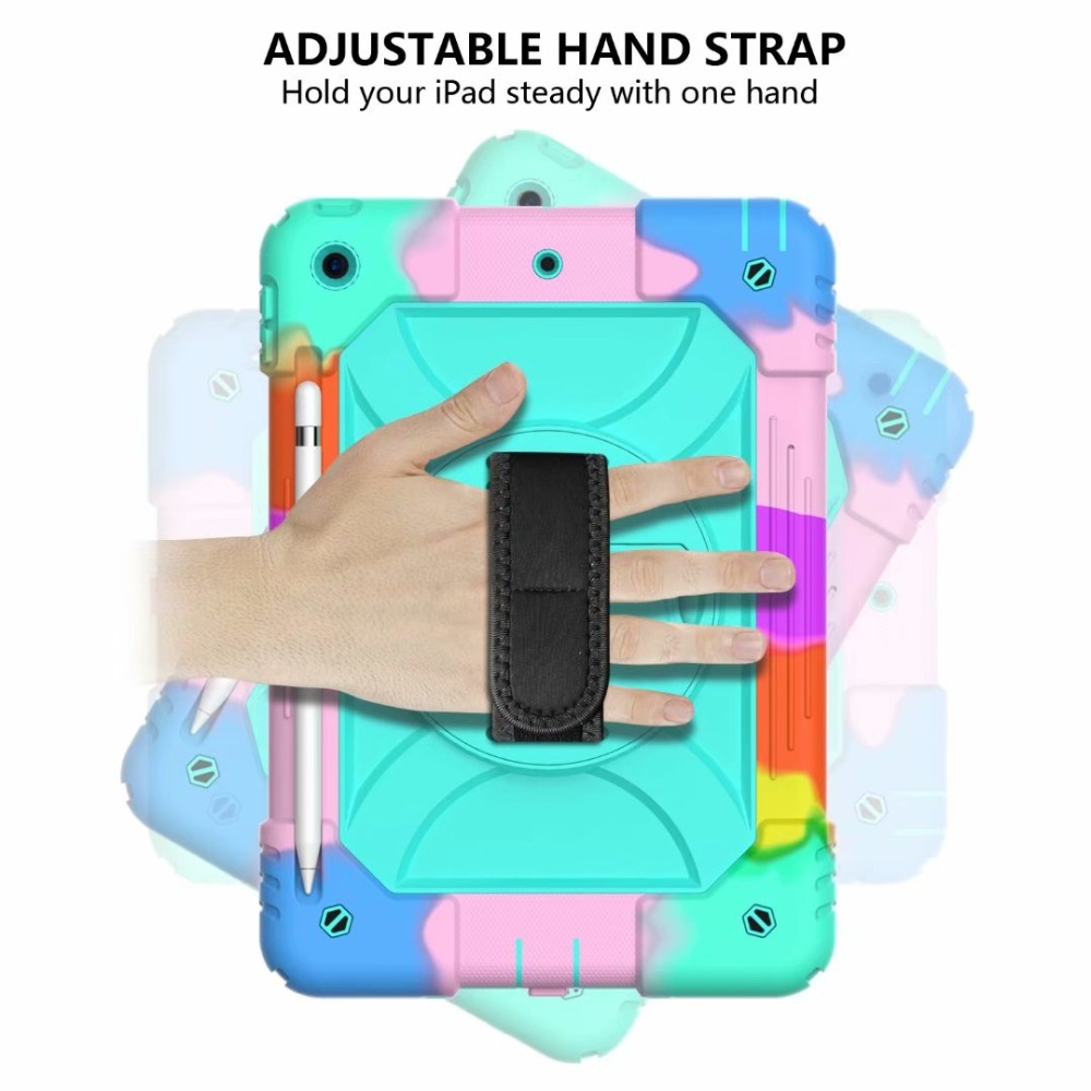 Rotating For Cover 7th Case Strap iPad iPad Generation 360 For Holder Pencil Hand Stand