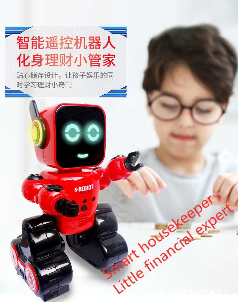 High-tech Robot APP Controls Early Education Interactive Machine Robot Set English Version