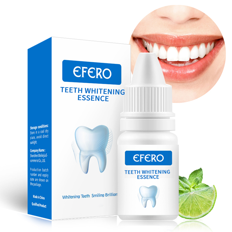 EFERO Teeth Whitening Serum Remove Plaque Stains Brighten Tooth Whitening Oral Hygiene Clean Serum Bleaching Tool Whitening Gel