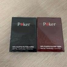 Красные/черные карты для Техасского покера Holdem, водонепроницаемые и тусклые полированные покеры