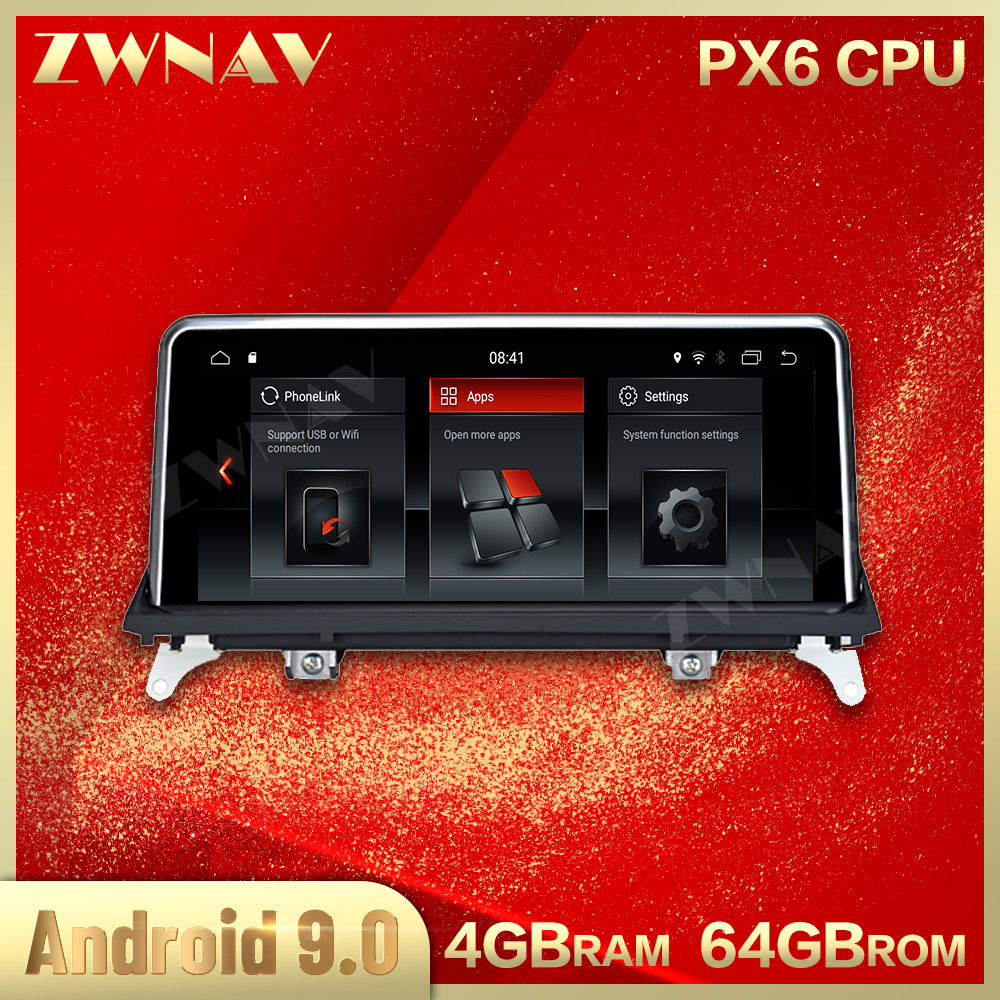 Touch screen 4+64G Android 9.0 Car Multimedia Player For <font><b>BMW</b></font> <font><b>X5</b></font> <font><b>E70</b></font> F15 2008-2013 car Radio Audio stereo Gps Navi Wifi head unit image