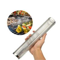BBQ Stainless Steel Accessories Meshes Perforated Mesh Smoker Tube Barbecue Grill Generator Smoker Filter Tool