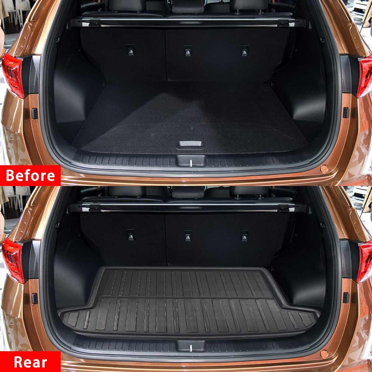 Car Cargo Liner Boot Tray Rear Trunk Cover Matt Mat Floor Carpet Kick Pad For Kia Sportage QL 2016 2017 2018 2019