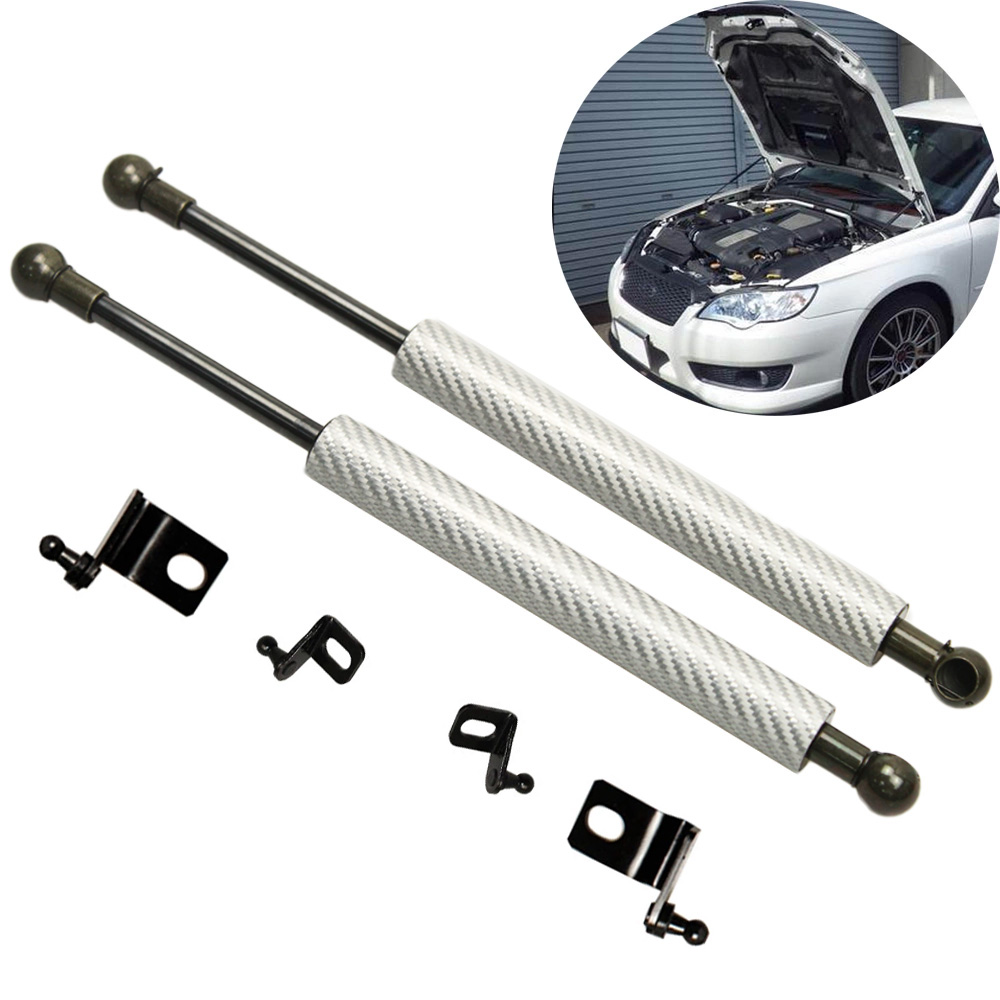 For Subaru Legacy BP BL 2003-2009 2x Front Hood Bonnet Modify Carbon Fiber Gas Struts Lift Support Shock Damper