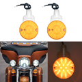 2 PCS Motorcycle Bar Shield LED Turn Signals Light for Har--ley Touring Electra Glide Road King FLHR FLHTC Heritage Softail