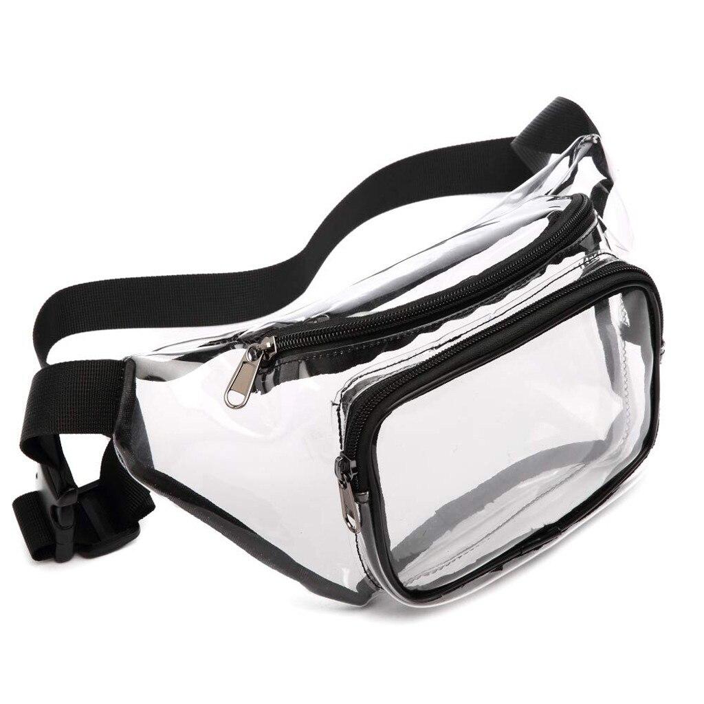 Clear Fanny Pack Waterproof Cute Waist Bag Purse Transparent Adjustable Belt Bag PVC поясная сумка Daily Simple Design For Girls