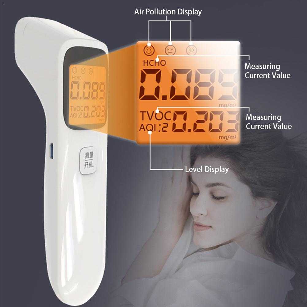 3-in-1 Portable  Air Quality Monitor Formaldehyde Detector