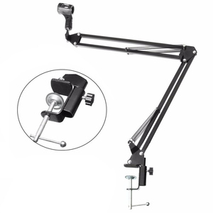 Image 1 - ARCHEER Adjustable Studio Microphone Stand Suspension Boom Table Bracket Arm Holder Microphone Shock Mount Holder Clip Table