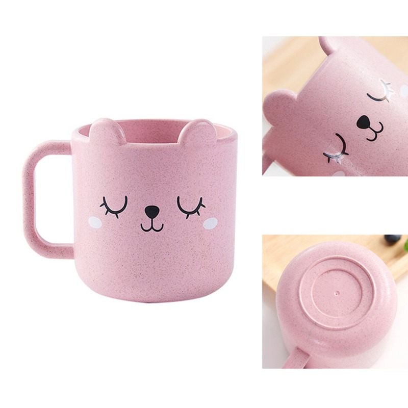 1pcs 250ml Baby CupS Drinking Water Brush Teeth Washing Cup Children Infant Baby Milk Cup With Handle Breakfast Mug Drink