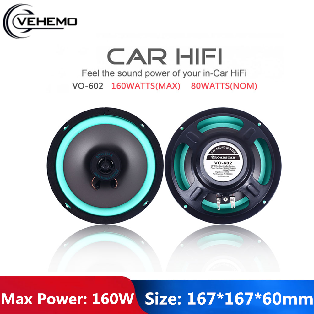 Porfessional Loudspeaker Bubble Automobile 2 Way Car Coaxial Black 6.5 Inch Vehicle Door Carstereo Full Range Frequency