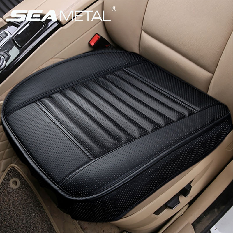 Tampas de assento do carro universal capa de assento de couro do plutônio quatro estações tampas de automóveis coxim protetor interior do automóvel almofadas assento cadeira