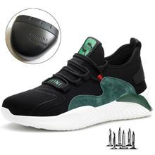 Men Women Work Shoes Steel Toe cap Safety Boots European Standard Anti-smash Anti-puncture Sport Shoes Safety Shoes