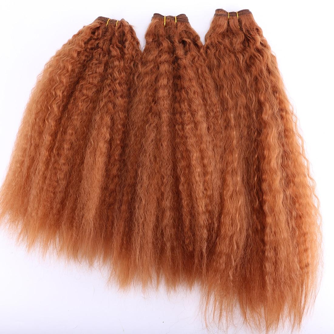 Reyna kinky reta tecer cabelo sintético extensão