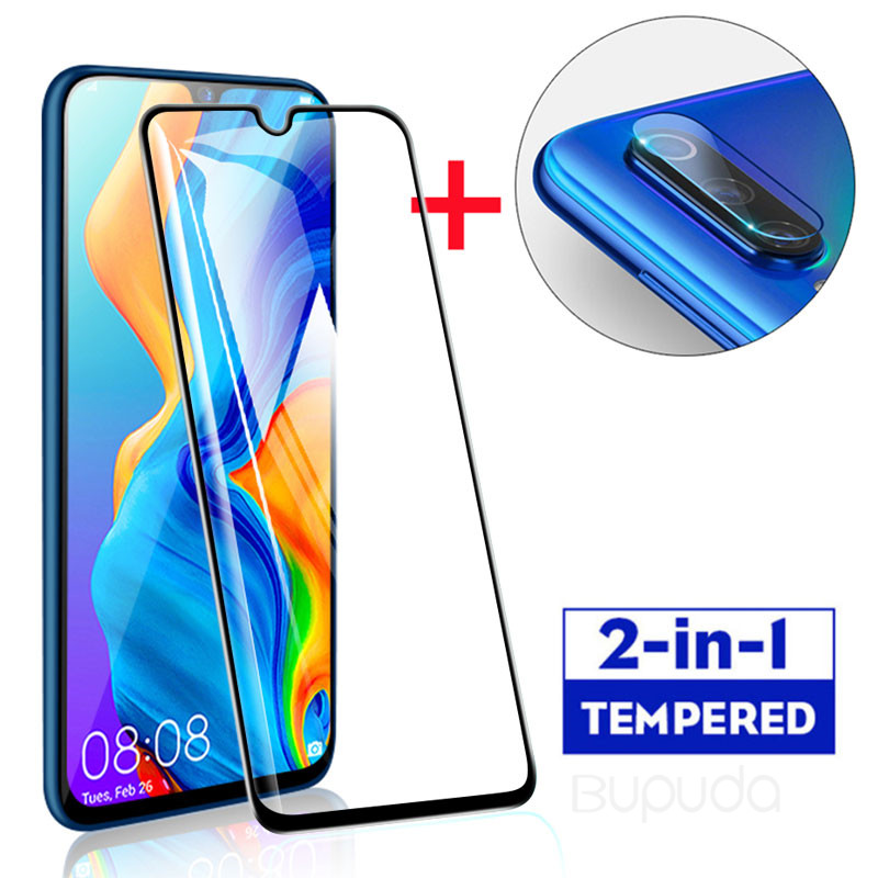 2 In 1 Protective Glass For Huawei P30 P20 Pro Lite Tempered Glass Screen Protector For Huawei P Smart 2019 Glass Film Protector