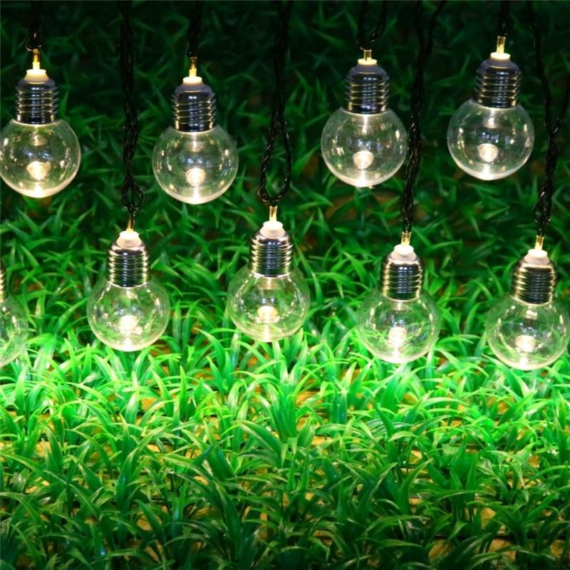 10/20/30 LED Solar Bulb String Outdoor Waterproof Garden Fairy Lights String Christmas Wedding Party Patio Solar Light Decor