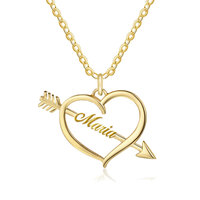 Индивидуальные персонализированные имя с любовью Подвеска со стрелой в Цепочки и ожерелья для подруги подарки сердечно-сосудистых Цепочки...
