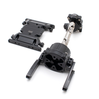 KYX Racing Metal Planetary Gear Transmission Transfer Skid Plates Gearbox Kit Upgrades for RC Crawler Car Axial SCX10 II 90046