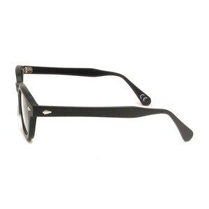Image 4 - Men S خمر جولة البصرية إطار العلامة التجارية تصميم كوريا النظارات للرجال النساء خلات ييويرس صغير متوسط Gafas Miopia هومبر