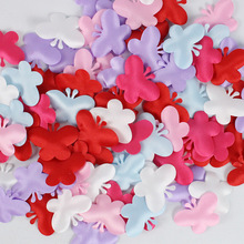 3.5 cm 100pcs Hand Throwing Artificial Butterfly Petals Flowers Bed Sprinkle Wedding Room Decorations