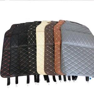 Image 2 - רכב מושב אחסון תיק PU שחור מיקרופייבר עור רכב מושב נגד בעיטת pad אוניברסלי רכב פנים עבור טויוטה KIA לאדה פורד יונדאי