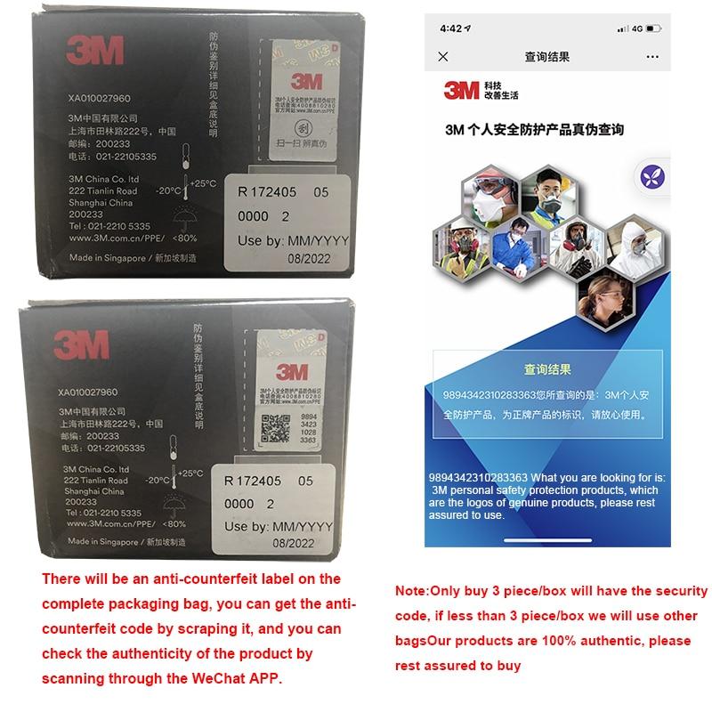 3M Aura Mask 3pcs/Box 9332 9334 9334CV Dust Mouth Masks Protective Filter  Haze Dust-proof Anti-fog Safety Face Mask 5