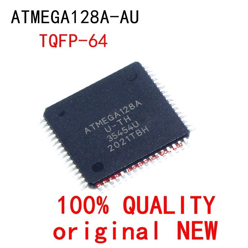 5 pçs/lote ATMEGA128A-AU ATMEGA128A ATMEGA128 TQFP-64 Em Estoque