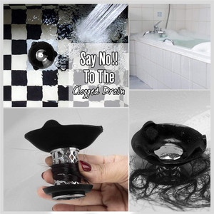 Image 4 - Shower Drain Hair Catcher with Bathtub Stopper New 2 in 1 Bathtub Drain Cover Prevent Hair Clogs Sink Filter Bathroom Gadgets