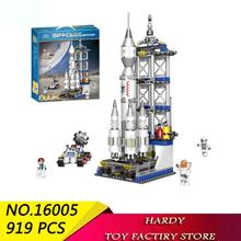 Technology Series Satellite Launch Station Assembles Pellet Toy Building Blocks For Children Xingbao 16005 919 Pcs