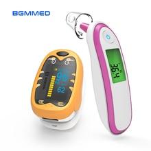 Медицинский термометр для детской температуры и инфракрасный Пальчиковый Пульсоксиметр Spo2 PR монитор для детей