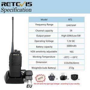 Image 5 - 10W Powerful Walkie Talkie Retevis RT1 VHF (or UHF) VOX 3000mAh Long Range Two way Radio For Factory Warehouse Farm Security