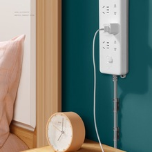 Hook Power-Strip-Holder Wall-Socket Self-Adhesive Sticker Removable Power-Plug-Cable-Bracket