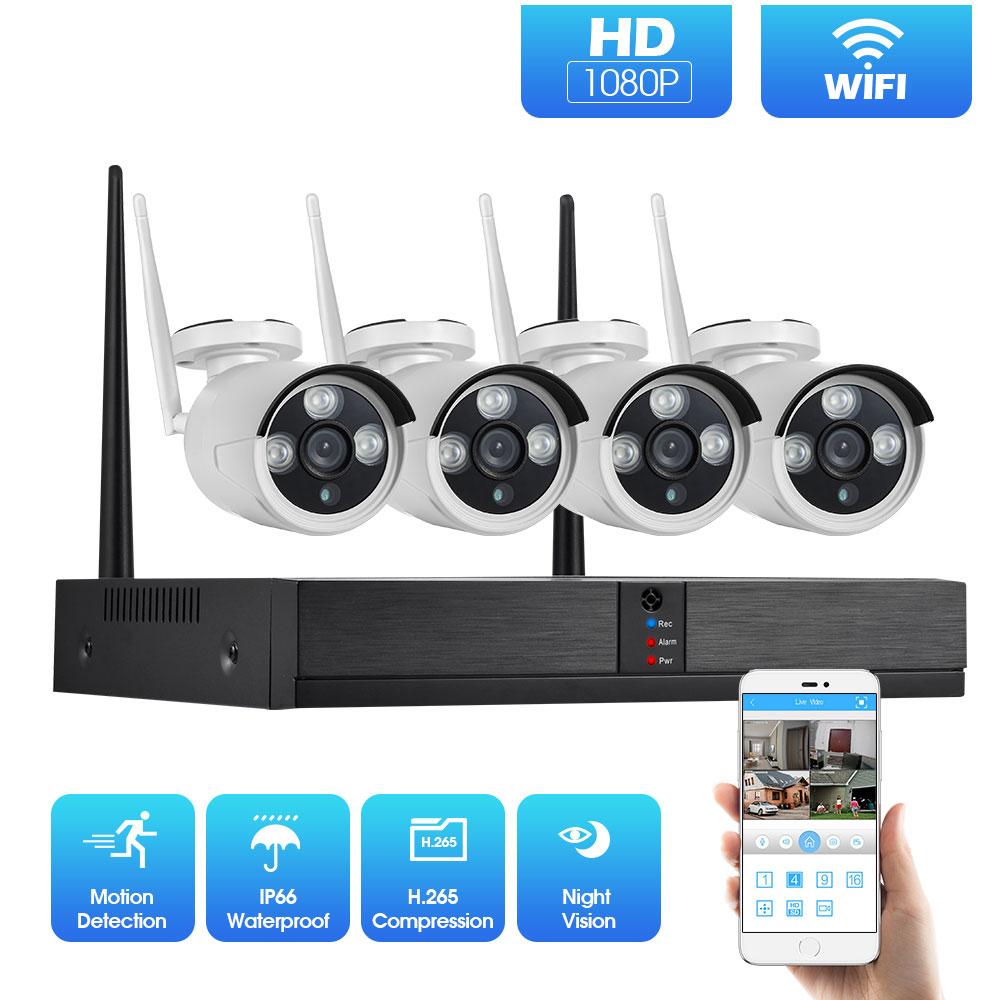 2MP 1080P System CCTV 8ch HD bezprzewodowa zestaw monitoringu NVR na zewnątrz IR Night Vision kamera IP Wifi System bezpieczeństwa nadzoru w Systemy nadzoru od Bezpieczeństwo i ochrona na AliExpress - 11.11_Double 11Singles' Day 1