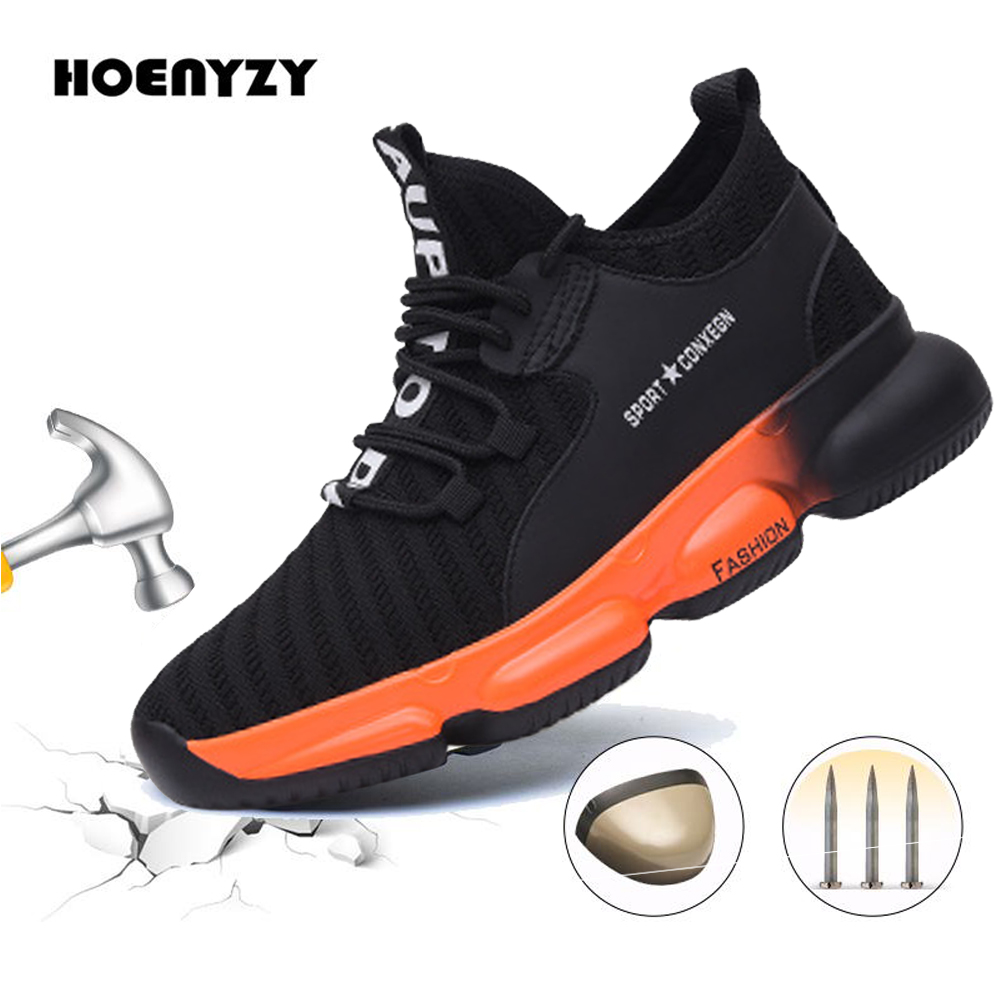 Top SaleSafety Work Shoes Boots For Men Male Protective Steel Toe Cap Boots Anti-Smashing Construction Security Puncture Proof Sneakers