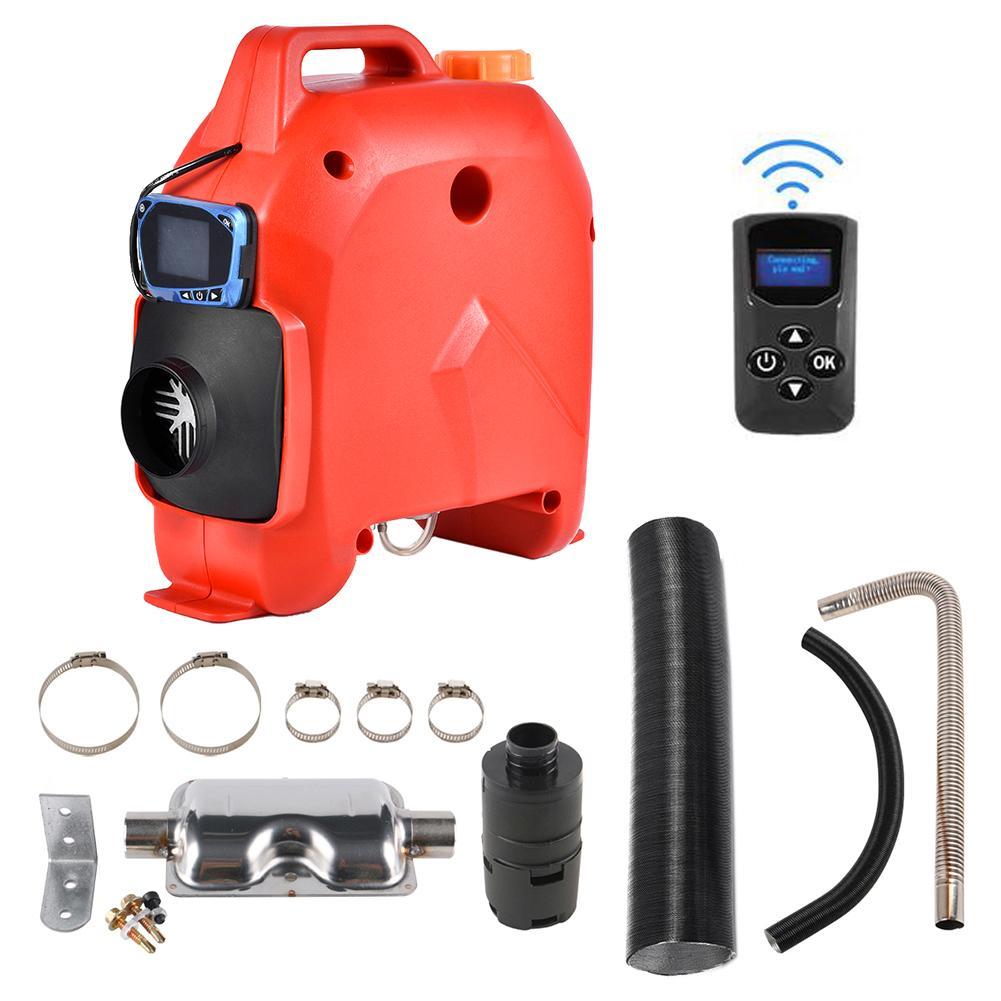 Calefator de estacionamento do carro com monitor do lcd 12 v/24 v 5kw calefator do ar universal para veículos de carga barcos caminhões carro do acampamento - 3
