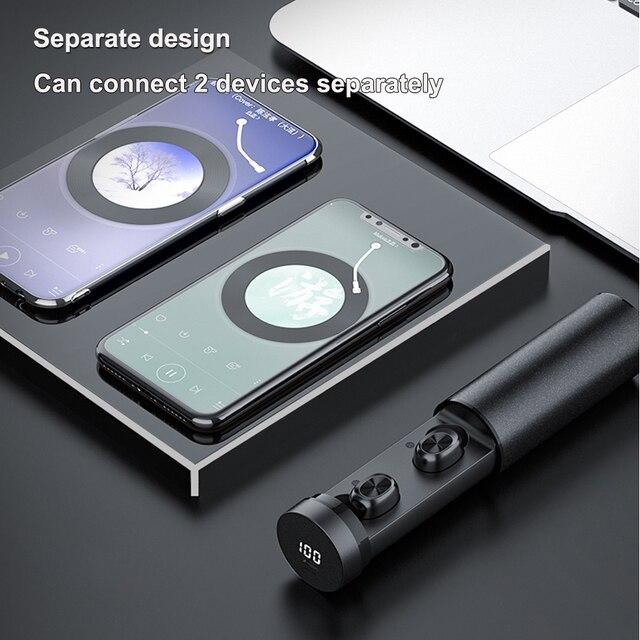 B9 TWS Bluetooth couteur 5 0 sans fil 8D HIFI Sport couteur micro couteurs jeu musique