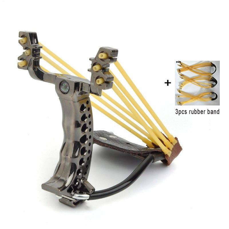 Slingshot Hunting Catapult Folding Wrist Flat Rubber Band Powerful Outdoor Shooting Fishing Game Slingshot Set