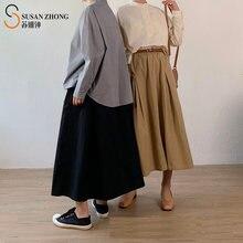 Женская юбка в японском стиле повседневная дизайнерская плиссированная