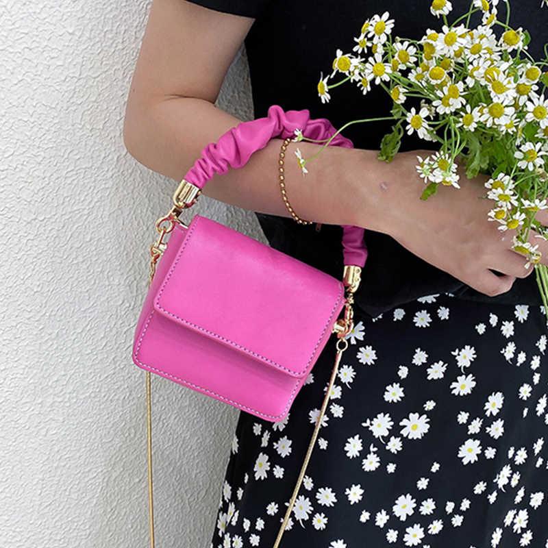Mini Pu Lederen Schoudertassen Voor Vrouwen 2020 Ketting Ontwerp Luxe Hand Bag Vrouwelijke Reistassen En Portemonnees Sac Een belangrijkste Femme