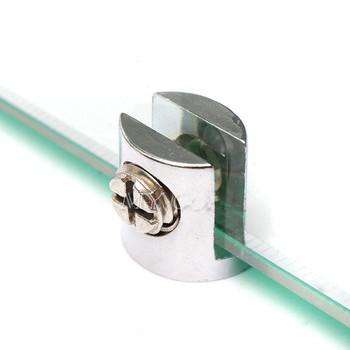 4 sztuk zacisk szklany szklane wsporniki ze stopu cynku chromowane wykończenie uchwyt półki wsporniki podpierające zaciski dla 6-8mm 8-10mm 10-12mm tanie i dobre opinie Standardowy do uchwytów do szyb Zacisk siodła CYL-CY104 Metalworking
